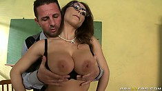 The art teacher is a stacked bitch that loves fucking at work