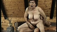 Mature woman can't wait to get her hairy meat wallet plowed hard