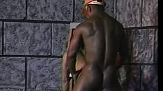Black construction workers take a quick break and enjoy rough anal sex
