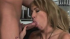 Easy to look at mature woman Tara Romain gets butt-fucked by BF