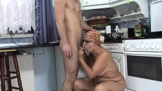 Dirty old grandma is on the hunt for a fresh new cock to ride