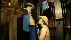Hardcore Gay Action In An Old West Jail