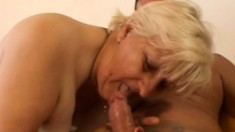 A kinky older woman can't go on without some young dick inside her