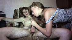 Sexy girl next door gives in to the temptation of a hard pounding