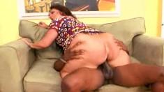 Carmeliata Lopez is one big Latina MILF who likes it black and hard