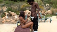 Shakahri engages in some hot pussy-plowing action with her man