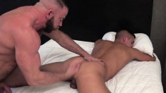 Sex-starved Shay Michaels and Dylan Saunders enjoy ass-drilling fun