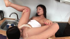 Milana and her girlfriend sharing hot kisses and wild lesbian tricks