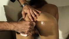 Dazzling redhead with a sublime ass Maki fills her holes with sex toys