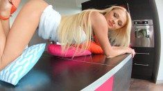 Mesmerizing blonde Ivana Sugar receives a large dick up her fiery ass