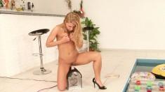 Smoking Hot Blonde Enjoys Rubbing Against This Brunette's Hot Body