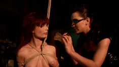 Stunning red-haired Zyna Baby loves to be a naughty sex slave