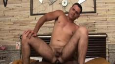 Dark skinned stud stuffs his long pole inside his white lover's butt