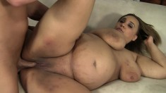 Sexy plumper wife with a huge booty finds it hard to resist a big dick