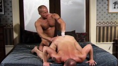 Insatiable stud bends over and takes a fist up his butt from behind