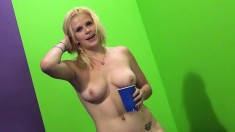 Sexy Kierstin gets drilled and cum on her tits, then toys her way to a squirt