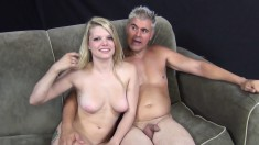 Cute Stella Banxxx has a pink toy and a hard dick satisfying her needs
