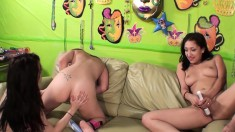 Vicki Chase, Aiden Ashley and Spencer Sage give new meaning to eating pussy