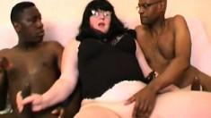French Bbw Sylviane Takes 3 Black Cocks