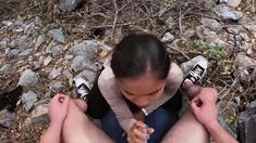 Amateur Asian girlfriend public blowjob