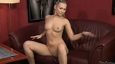 Cool casting scene with lovely Michelle that gets rid of her black panties