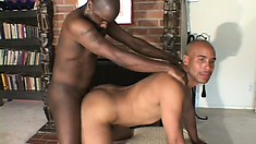 Two black gay lovers suck each other's dicks and indulge in anal sex