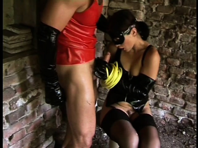 Latex couple having sex video
