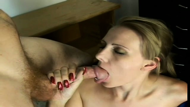 Milf touching herself and sucking cock
