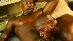 Muscled black dudes love to suck cock and to get pounded in the ass