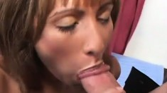 Filthy housewife Estrella has a gift for riding throbbing cocks