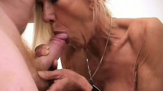 Granny is as good at sucking dick and getting fucked as she was as a young woman