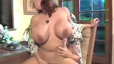 Big boobed babe gives a great titjob and rides a dick balls deep