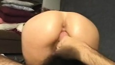 Exotic Maki fucks a long dick and takes its hot juices in her mouth