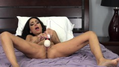 Cutie Trinity St Clair plays with herself before getting a cock to play with