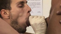 Cock-hungry man goes to a clinic and gets his asshole worked