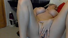 Sexy Shy Chick Shows Big Boobs On Webcam