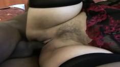 Hairy Mature Interracial