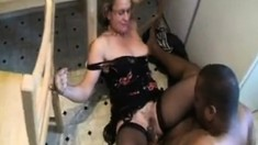Mature Milf in Stockings Interracial Fuck