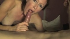 Hot milf pov blowjob with cum in mouth