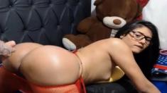 Hunk Fucking A Hot Shemale Latina Ass