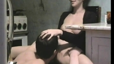 Horny milf licks her dripping pussy