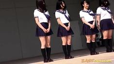 Cute Japanese Students Dance