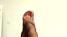 Nylon seamed foot fetish pt2