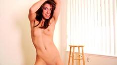 Teen Girl Solo Masturbation and Striptease 27