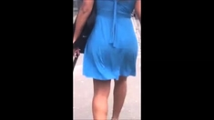 Valerie Kay shows her big latin ass in Public