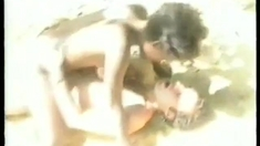 Black Cuckold filming Your Ebony Wife on The Beach