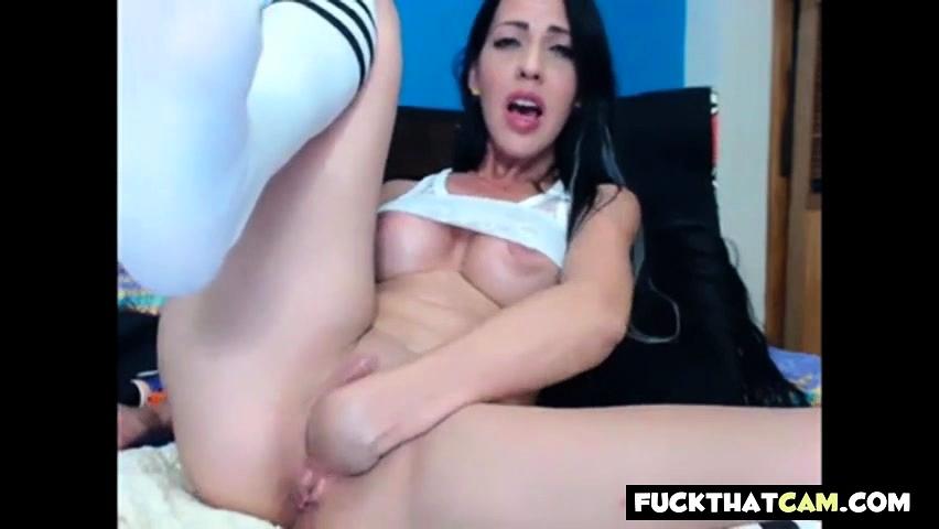 Girl having sex with a teddy bear