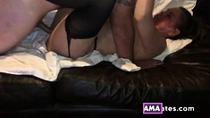 Wife fucking her married boyfriend for the first time