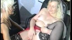 Stockings Clad Lesbian Fisted