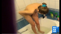 Shower Spying On Young Teen